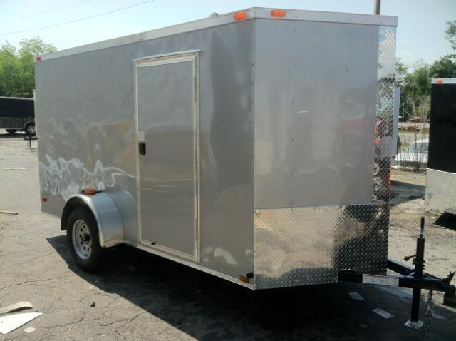 2015 6x12 SVR Diamond Cargo Enclosed Trailer Silver Frost