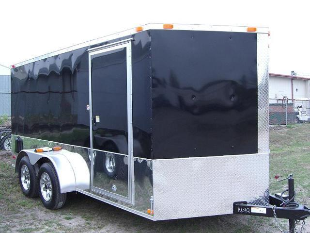 2015 7x14 TVRM Diamond Cargo Enclosed Motorcycle Trailer