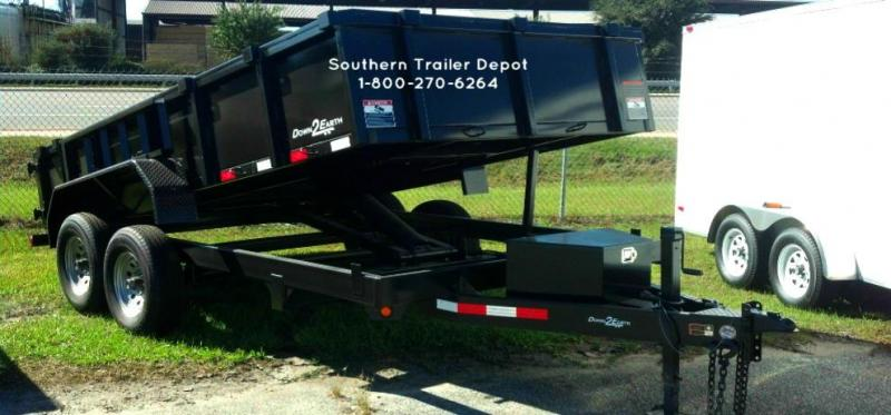 "2020 Down 2 Earth Trailers D2E 6x12 Dump Equipment Trailer W/ 24"" Sides & Loading Ramps"