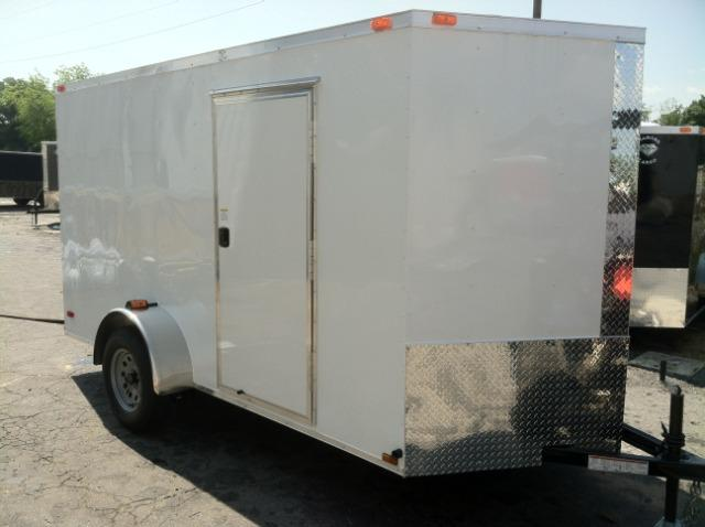 Diamond Cargo 6x12 SVR White Enclosed Cargo Trailer