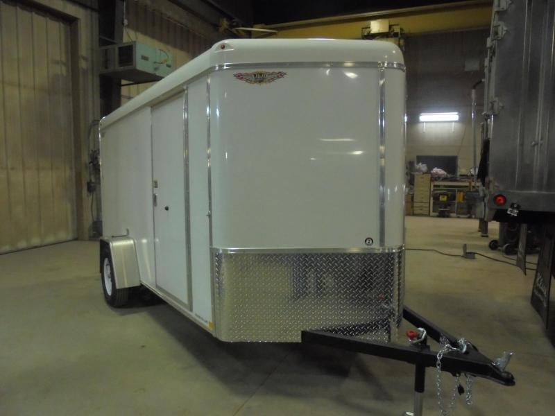 2019 H and H Trailer 6x10 SINGLE RND TOP CA VNOSE 3.5K CARGO
