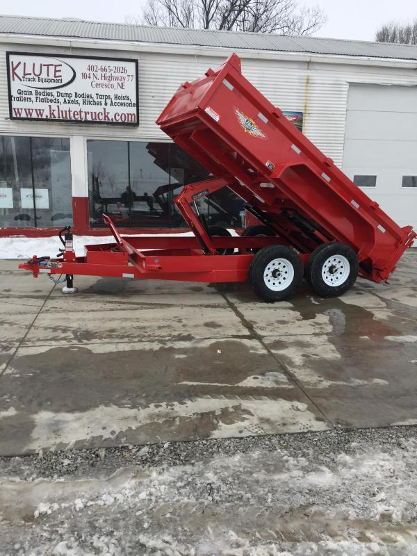 2019 H and H Trailer 83X12 DBW DUMP BOX 14K