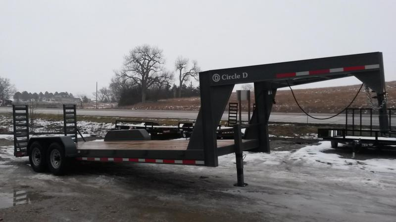 2019 Circle D 20 Plus 2 Gooseneck Low Profile Flatbed Trailer