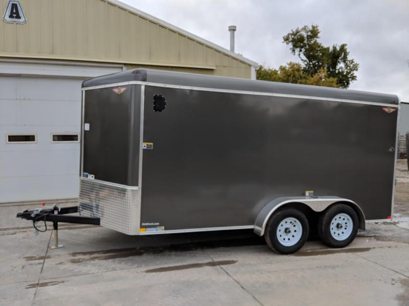 2019 H and H Trailer 7X14 TANDEM RND TOP CA VNOSE CARGO