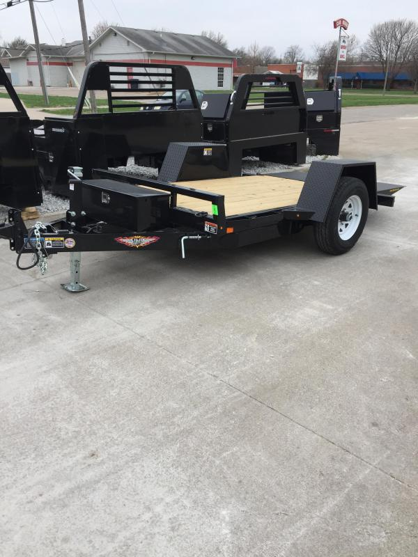 2019 H and H Trailer 62X10 GRAVITY TILT SINGLE AXLE 6K