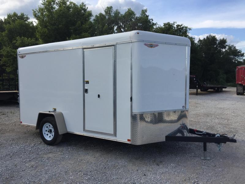 2020 H and H Trailer 7X12 SINGLE RND TOP HH V-NOSE 3.5K CARGO