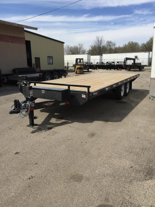 2019 H and H Trailer 102X20 14K DECKOVER LIGHT DUTY