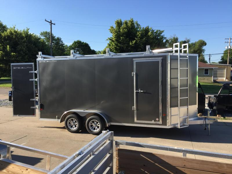 2019 Alcom-Stealth 7X16 Contractor Enclosed Cargo Trailer