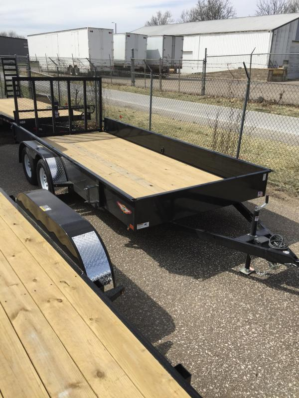2019 H and H Trailer 8.5X16 STEEL SOLID SIDE TANDEM 7K