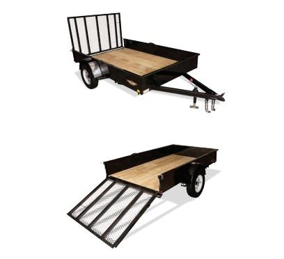 2019 H and H Trailer 8X12 STEEL SOLID SIDE 3.5K