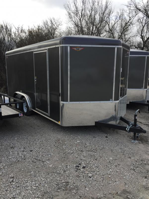 2019 H and H Trailer 8X16 TANDEM RND TOP HH VNOSE 7K CARGO
