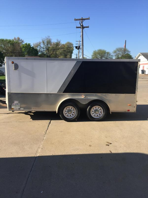 2008 United Trailers 7X14 CARGO Enclosed Cargo Trailer