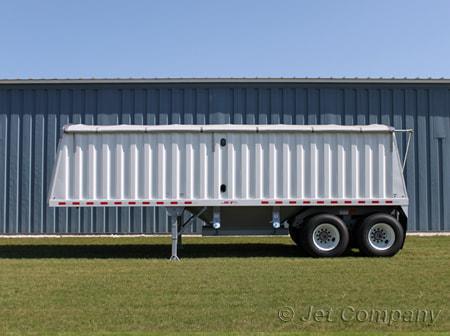 Jet Co 26' Offset Single Hopper Steel Grain Trailer