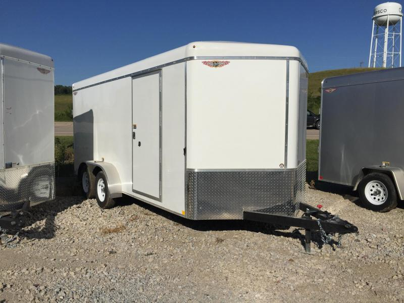 2020 H and H Trailer 7X16 TANDEM RND TOP CA VNOSE CARGO
