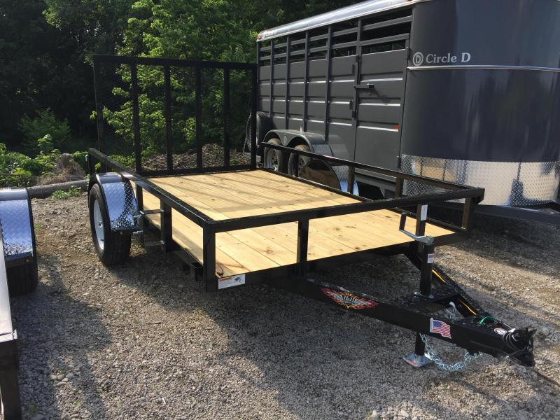 2019 H and H Trailer 76X10 STEEL RAIL SIDE 3.5K