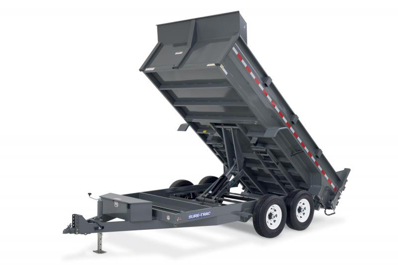 2019 Sure-Trac 82x12 12K HD Low Profile Dump (Scissor Hoist) Dump Trailer