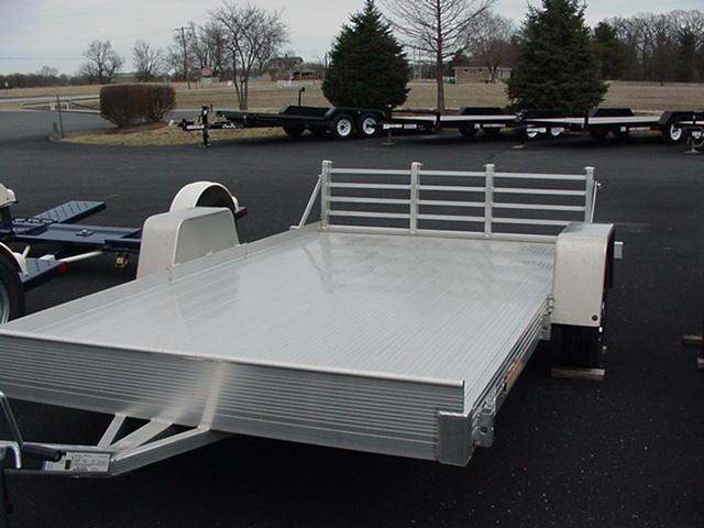 """Bear Track 76"""" x 10' Aluminum w/  Bi-Fold Ramp"""