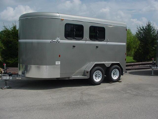 CornPro 2H Slant Enclosed Horse Trailer 14