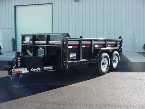 "CornPro  6'9"" x 12' 10K Lo Profile Light Duty Dump w/Ramps"
