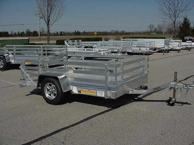 Bear Track  53 x 8 w/ Side Rails Bi-Fold Ramp Utility Trailer