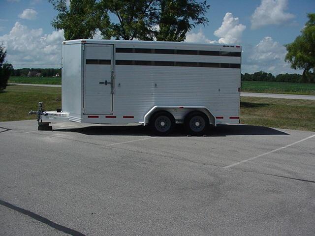 2005 Alum-Line  Showmaster 14 BP Aluminum Stock Livestock Trailer