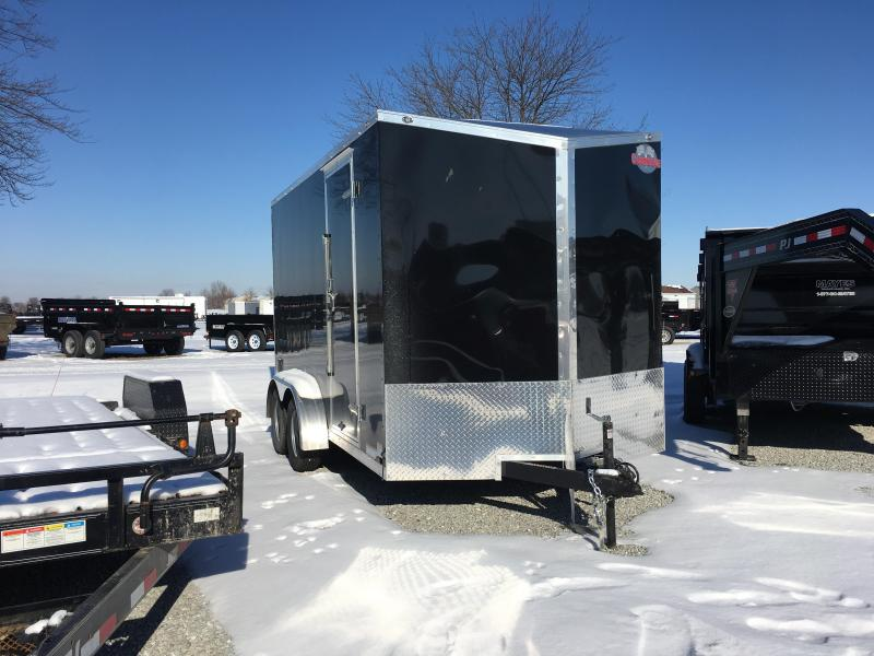 "2018 7x14 Cargo Mate EHW714TA2 Enclosed Cargo Trailer - Black (RD)(GVW: 7000)(12"" Extra Height)"
