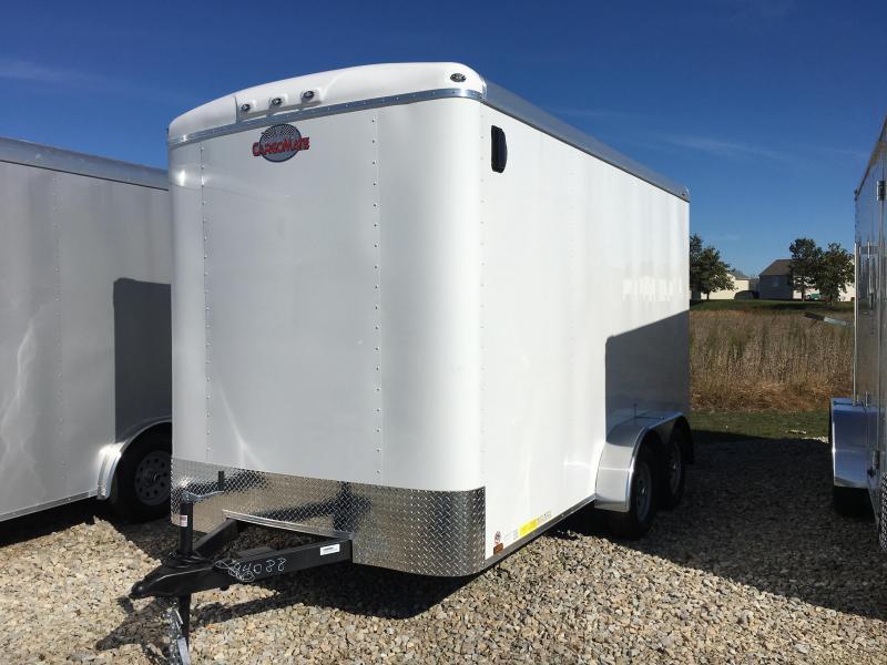"2018 7x14 Cargo Mate BL714TA2 Enclosed Cargo Trailer - Polar White (RD)(GVW: 7000)(12"" Extra Height)"