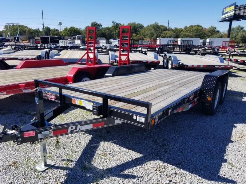 "2018 83x16 PJ Trailers CE 5"" Channel Equipment Trailer - Straight Deck w/ 5' Slide-in Ramps (GVW: 9899)"