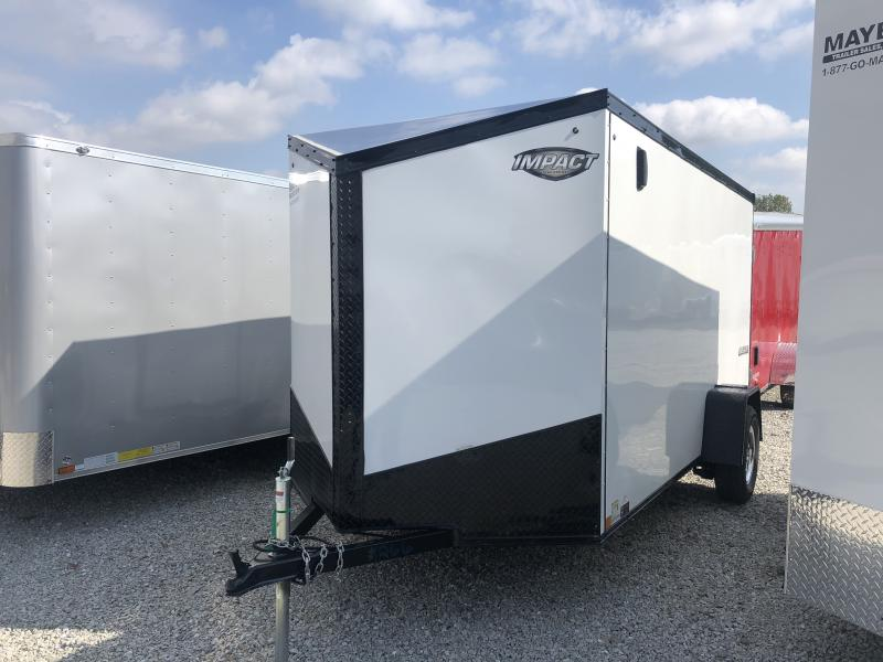 2019 6x12 Impact Trailers ITB612SA Enclosed Cargo Trailer - White - Ramp Door (GVW:  2990#
