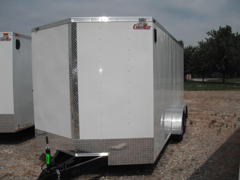 2015 7x16 Cargo Mate EHW716TA2 Cargo / Enclosed Trailer - White (RD) (6