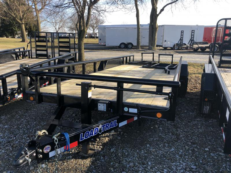 2019 83x22 (20+2) Load Trail CS8322072 Car / Racing Trailer - 5' HD Split Fold Gate (GVW:  14000)