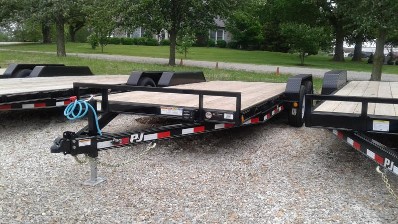 2020 18' (16+2) PJ Trailers 18'x5 Car Hauler - Slide in Ramps (GVW:  9800)