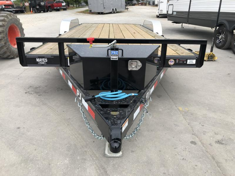 2020 20 (18+2) TA PJ Trailers C5202 Car / Racing Trailer - Winch Plate - Tool Box - Rear Slide In Ramps (GVW:  7000)