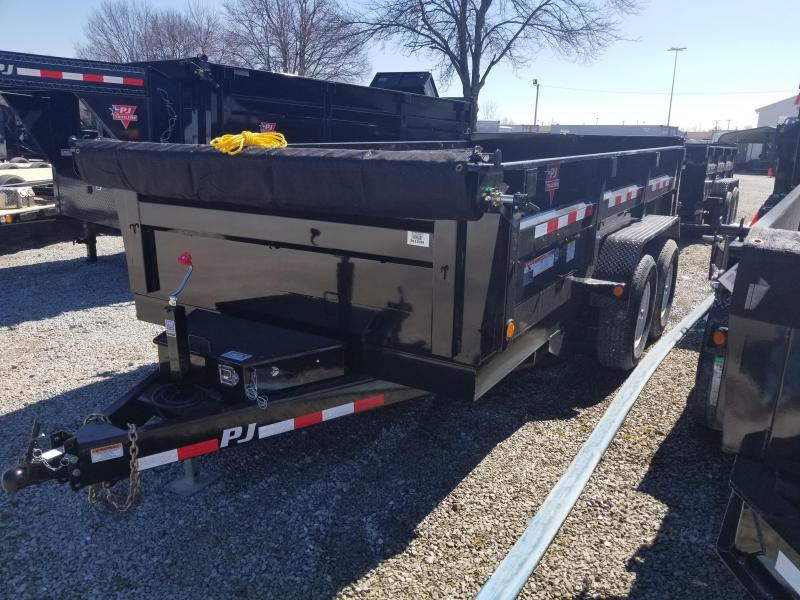 "2018 83x14 PJ Trailers D7 83"" Tandem Axle Dump Trailer - (Split/Spreader Gate)(Tarp Kit)(GVW: 14000)"