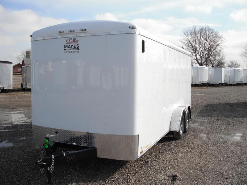 2015 7x18 Cargo Mate BL718TA2 Cargo / Enclosed Trailer - White (RD)