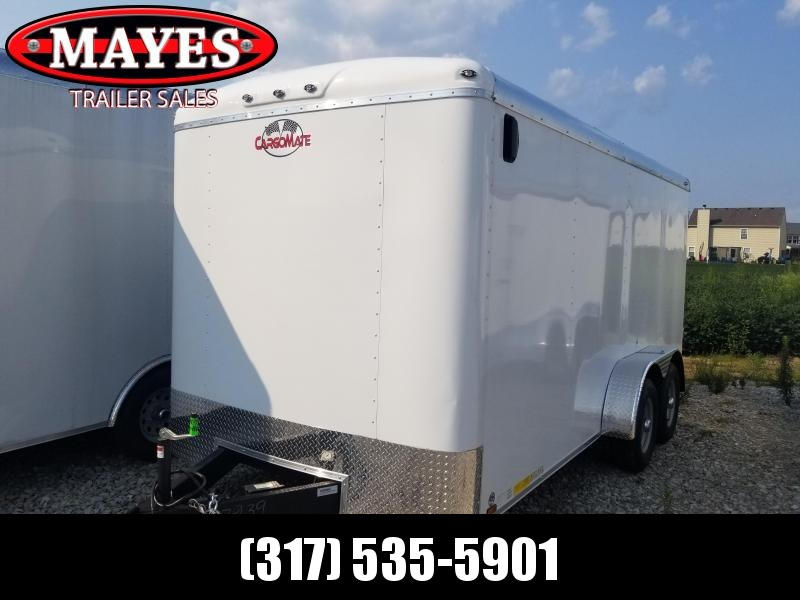 2019 7x16 Cargo Mate BL716TA3 Enclosed Cargo Trailer - White (RD)(GVW: 9800)