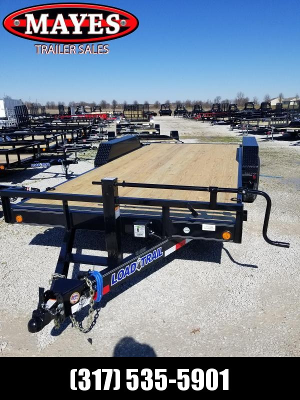2018 83x18(16+2' Dovetail) Load Trail CH Equipment Trailer - w/ 5' Fold-up Ramps (GVW: 14000)(Black Wheels)