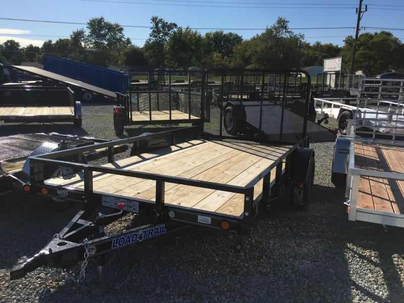 2018 77x12 Load Trail SB77 Utility Trailer - Straight Deck w/ 4' Fold-up Gate (GVW: 3000)