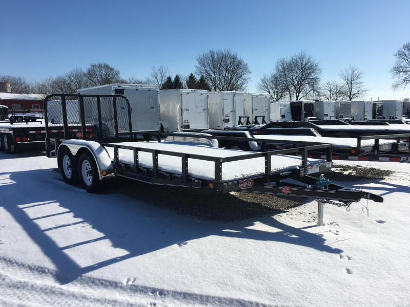 "2018 83x18(16+2' Dovetail) PJ Trailers UL 83"" Tandem Axle Channel Utili Trailer - w/ 4' Fold-up Gate (GVW: 7000)"