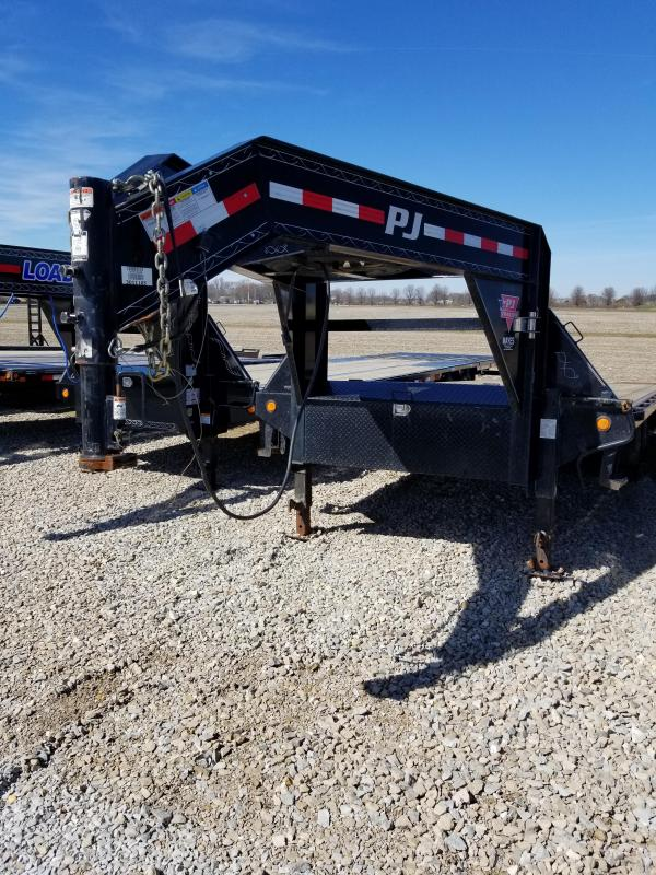 2015 102x25(20+5' Dovetail) PJ Trailers USED FS Flatbed Trailer - w/ 2 Flip-over Ramps (GVW: 15680)