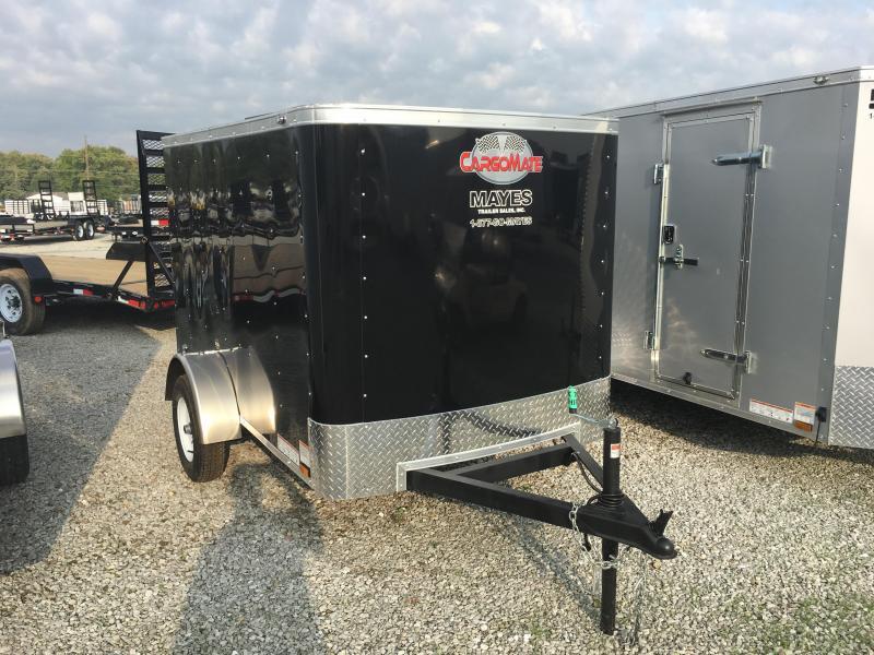 2018 5x8 Cargo Mate SS58SA Enclosed Cargo Trailer - Black (Rear Swing Door)(GVW: 2990)