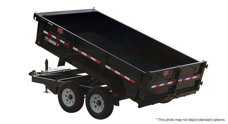 "2019 83x14 PJ Trailers D7 83"" Tandem Axle Dump Trailer - (Split/Spreader Gate)(GVW: 14000)(Spare Mount ONLY)"