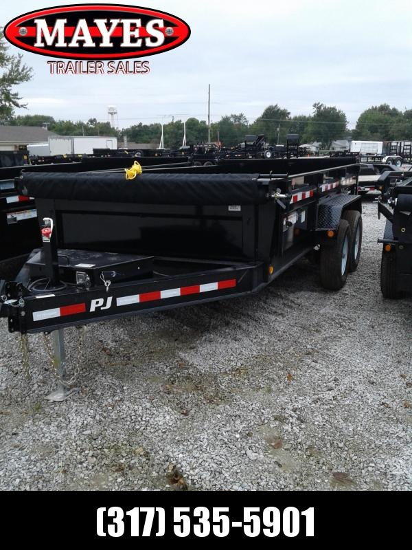 2019 83X14 PJ Trailers DL142 Low Pro Dump Trailer Split/Spread Gate - Tarp Kit (GVW:  14000#)