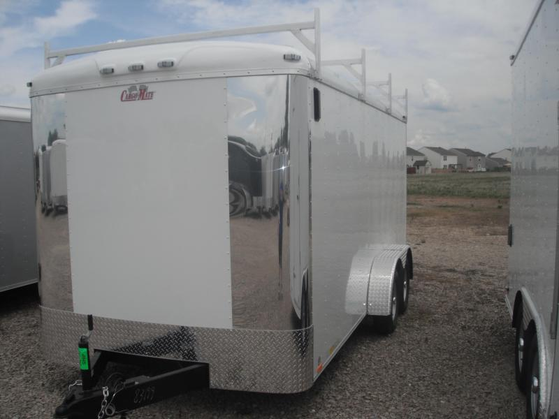 2014 7x16 Cargo Mate BL716TA2 Cargo / Enclosed Trailer - White (RD)