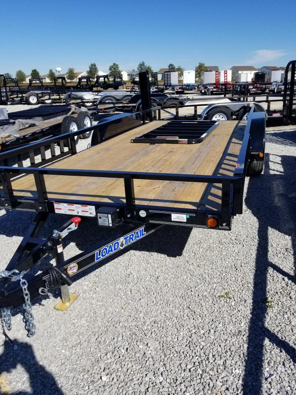 2018 83x18(16+2' Dovetail) Load Trail UT83 Utility Trailer - w/ 3' Fold-up Gate (GVW: 7000)(ATV Ramps)