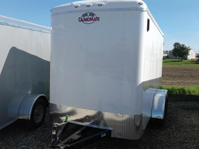 "2019 6x12 Cargo Mate BL612TA2 Enclosed Cargo Trailer - Polar White (DD)(6"" Extra Height)(GVW: 7000)"