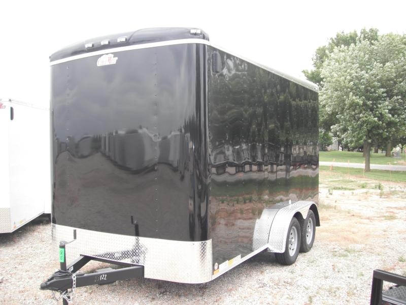 2015 7x14 Cargo Mate BL714TA2 Cargo / Enclosed Trailer - Black (1' Extra Height) (RD)