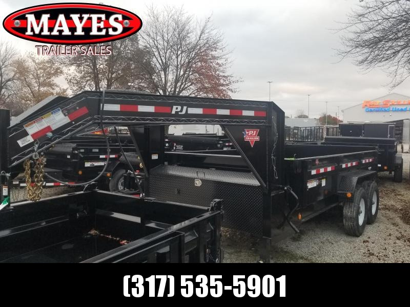 2019 83x14 Low Pro Gooseneck PJ Trailers DL142 Dump Trailer - Gooseneck with Split/Spread Gate (GVW:  18000)