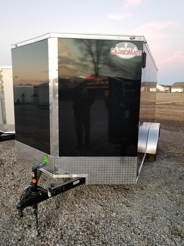 2018 7x14 Cargo Mate EHW714TA2 Enclosed Cargo Trailer - Black (DD)(GVW: 7000)