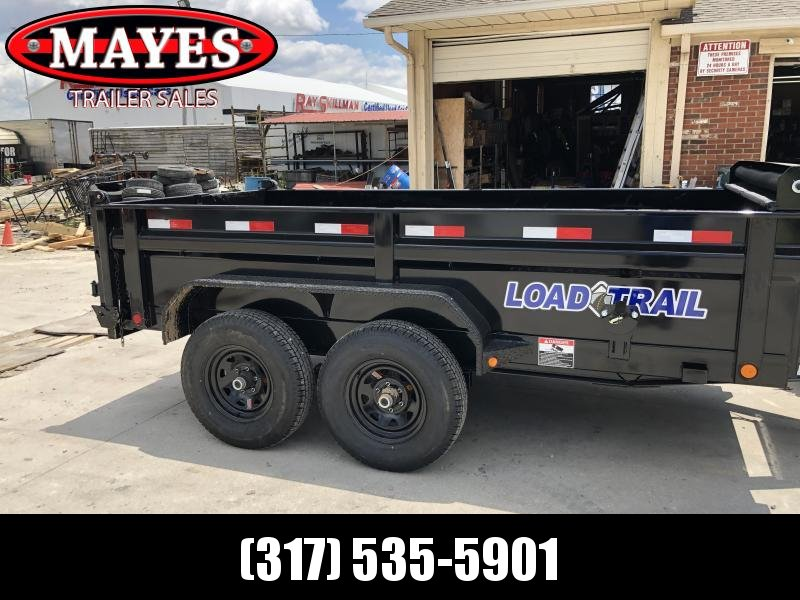 2019 72x12 TA Load Trail Dump Trailer - 3-Way Gate - Rear Slide In Ramps - Scissor Hoist (GVW:  9990)